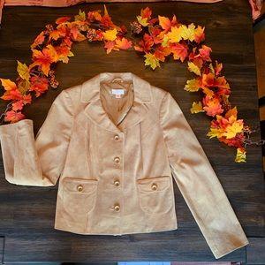 Ann Taylor Loft 100% Leather Suede Blazer Jacket
